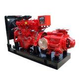 Pompa ad acqua diesel di lotta antincendio di caso spaccato di Automati
