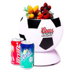 Mini frigo de football 3liter DC12V, AC100-240V pour refroidissement et réchauffement