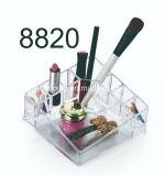 PS transparente jóias inicial Armazenamento Cosméticos Makeup Batom caso