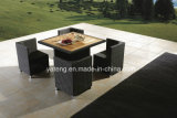 Moldura de alumínio com conjunto de teca com cadeira Leisure Outdoor Furniture Dining Set (YT233)