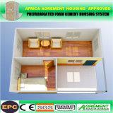 Das casas de campo modulares portáteis do painel de sanduíche do perfil do quadro de aço casa pré-fabricada