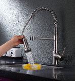 Saque del mezclador de lavabo Tratamiento de la superficie de cromo Grifería de cocina