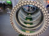 Rios. O rolamento da mesa giratória 061.25.1204 de grua-torre Rolamento Giratório industrial