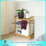 3개의 격실 세탁물 상자를 가진 2017의 대나무 목욕탕 세탁물 바구니 선반