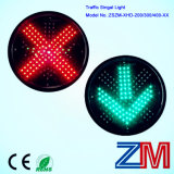 적십자 & 녹색 화살을%s 가진 300mm 교통 신호 빛