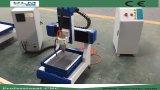 Kleiner CNC, der Acrylstich-und Ausschnitt-Maschine bekanntmacht