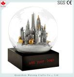 Edificio de la resina Snowglobe baratos personalizados Souvenir.