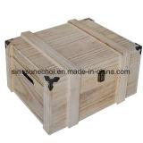 Reto Simple Paulownia petite boîte de thé en bois avec verrou