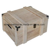Retoロックが付いている簡単なPaulowniaの小さい木の茶ボックス