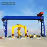 U Tipo 50 toneladas de depósito de contenedores grúa de pórtico Doble Haz