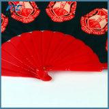 Ventilador plegable de nylon de encargo del ventilador de lujo chino al por mayor de la mano