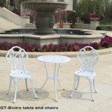 Таблица литого алюминия и мебель стулов напольная