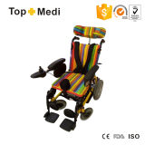 La rehabilitación de Parálisis Cerebral de respaldo alto reclinable silla de ruedas eléctrica para niños