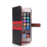 Caja superior del teléfono de la carpeta de la PU de Saffiano de la venta para el iPhone 7