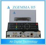Hevc/H. 265 C.P.U. Zgemma H5 гибридных твиновских тюнеров DVB-S2+T2/C мощное удваивает приемник Linux FTA сердечника спутниковый