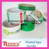 Band van de Verpakking van de Gom van het Teken van de Handel van de druk BOPP de Acryl Zelfklevende