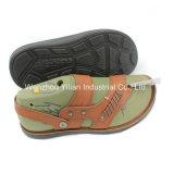 Deux couleurs de l'aluminium sandale pantoufle Semelle PU Moule