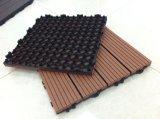 raad van de Sauna van de Tegel van het Dek van de Samenstelling WPC van het Polymeer van 300*900mm de Houten