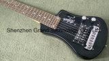 Портативный мини-поездки электрической гитаре в черный (ТГ-2)
