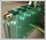 vidro Tempered cortado 3-19mm dos tamanhos com bordas Polished, furos para a casa verde/escadas/corrimão