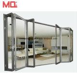 Diseño de aluminio Tempered popular estándar australiano de la puerta de plegamiento del BI de la doble vidriera