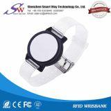 Wristband impermeable suave del plástico de RFID