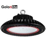 O sensor de intensidade regulável 100-277V anel suporte travando 200W 200 Watts Highbay Industrial High Bay UFO LED