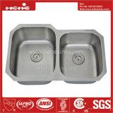 Bassin de cuisine d'acier inoxydable, bassin en acier, acier inoxydable sous le bassin de cuisine de cuvette de double de support