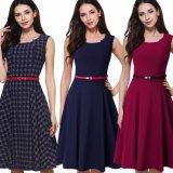 Dame-Büro-Kleid-Sleeveless Kleider