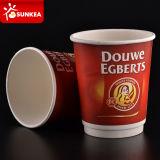 Por encargo impresas desechables doble pared de papel caliente taza de café