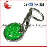 Keyring simbólico del metal de compras de la carretilla de encargo del carro para promocional