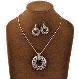 ローズの金によってめっきされるイヤリングおよびネックレスの宝石類の一定のラインストーンの宝石類
