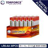 bateria seca alcalina preliminar de Digitas da manufatura de 1.5V China (LR6-AA 16PCS)