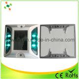 Barrière de la température Anti-High Clignotant LED Route solaire goujon en aluminium