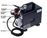 Хоббиа шланга топлива компрессора воздуха набора Airbrush As18bk пушка брызга Tattoo установленного загорая