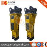 Cx210 PC210 Utilização da escavadeira hidráulica silenciosa disjuntor de rocha com partes separadas de demolição