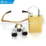 Do Magnifier cirúrgico dos dentistas do equipamento dental vidros cirúrgicos dentais das lupas 3.5X420mm + lâmpada leve principal do diodo emissor de luz