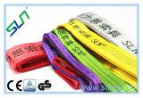 2018 preço de fábrica a linga de tecido do cinto de segurança tela plana de poliéster 3t