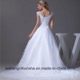 Nuova unione Tulle dell'abito del vestito da cerimonia nuziale di arrivo con l'abito di cerimonia nuziale del merletto