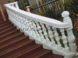 Natuurlijk Wit/Geel Graniet/de de Marmeren Leuning/Balustrade van de Steen voor Balkon/Trede