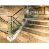 Baranda de la plataforma de aluminio/ canal U barandillas de vidrio