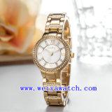 Het Horloge van het Embleem van de douane past de Polshorloges van de Vrouw aan (wy-018D)