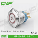 28mm Coil-Locking Waterproof Push Switch Short prop