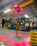 移動式装置および天井クレーンのための84-120wattsの青か赤いスポットライト