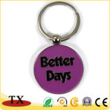 Simple Custom Metal Promotion Round Key Chain