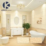 Azulejo de cerámica de la pared del color del mármol del cuarto de baño amarillo de la mirada con precio de fabricante