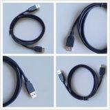USB 2.0 un varón a un cable de extensión femenino del USB del cable