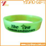 Wristband/braccialetto caldi del silicone di vendita con il marchio stampato (YB-SM-39)
