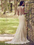 Sleeveless Brautballkleid-Hüllen-Spitze-Hochzeits-Kleid Z617