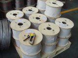 Recubierto de nylon de alambre de acero inoxidable 316 de la cuerda cuerda 7X7 de 1,8 mm de diámetro